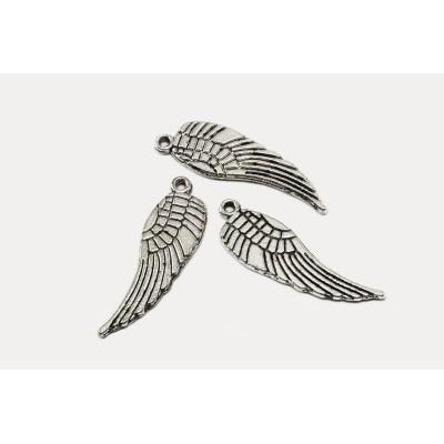 Anhänger Engel Flügel, 31 x 9 mm, silberfarben, 5 Stück