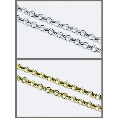 Erbsenkette, 6 x 6 mm, 1 m, Aluminium, Meterware