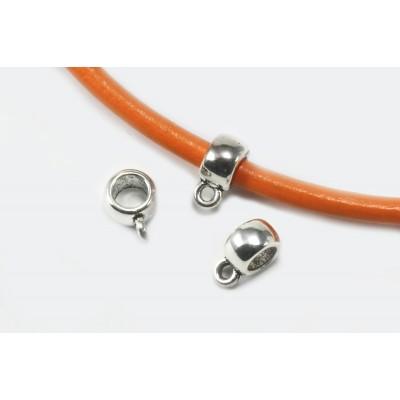Anhängerverbinder mit Schlaufe, 9 x 4 mm, 10 Stück