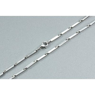 Halskette, 60 cm, mit Verschluss, Edelstahl, 5 Stück