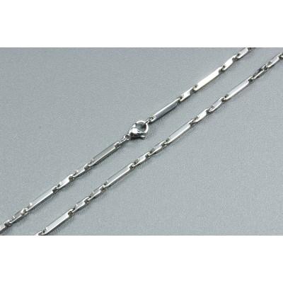Halskette, 50 cm, mit Verschluss, Edelstahl, 5 Stück