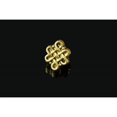 Metallperlen, Keltische Knoten, 5 Stück