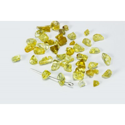 Edelstein Perlen, Calcit gelb / orange, 5-8 mm, 50 Stück