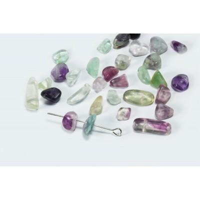 Edelstein Perlen, Fluorit, 5-8 mm, 50 Stück