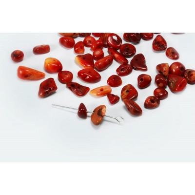 Edelstein Perlen, Koralle, 5-8 mm, 50 Stück