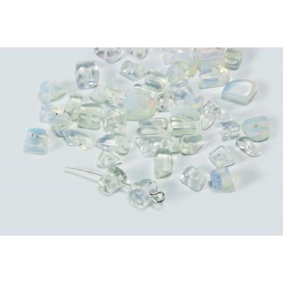 Edelstein Perlen, Mondstein, 5-8 mm, 50 Stück