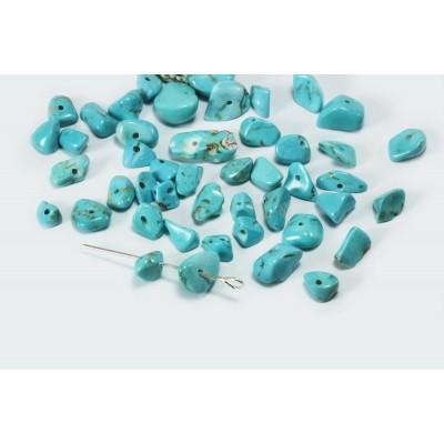 Edelstein Perlen, Türkis, 5-8 mm, 50 Stück