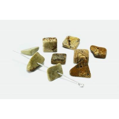 Edelstein Perlen, Jaspis, 6-17 mm, 50 Stück