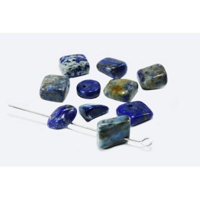 Edelstein Perlen, Lapis Lazuli, 6-17 mm, 50 Stück