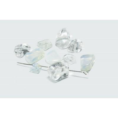 Edelstein Perlen, Mondstein, 6-17 mm, 50 Stück