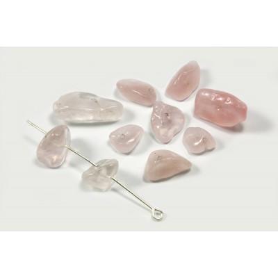 Edelstein Perlen, Rosenquarz, 6-17 mm, 50 Stück
