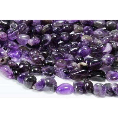 Edelstein Perlen, Amethyst, 1 Strang, 40-41 cm