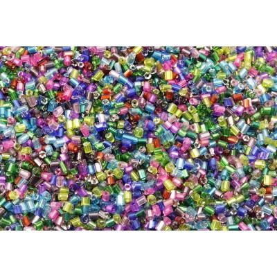 Rocailles Stiftform, Farbenmix, 20/100 g